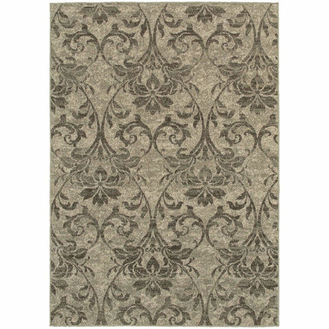 Oriental Weavers Highlands Grey Ivory Botanical Distressed Transitional Rug