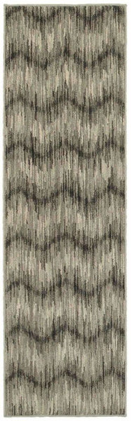 Woven - Highlands Grey Ivory Chevron  Transitional Rug