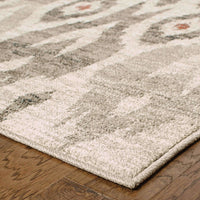 Woven - Highlands Ivory Grey Tribal Ikat Transitional Rug