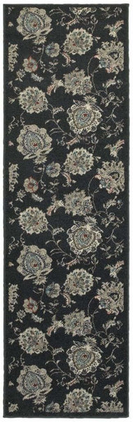 Oriental Weavers Highlands Midnight Ivory Floral  Transitional Rug