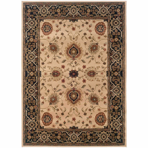 Oriental Weavers Hudson Beige Black Oriental Persian Traditional Rug