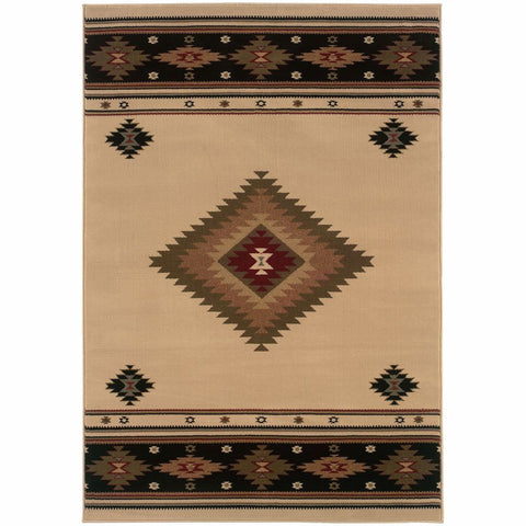 Oriental Weavers Hudson Beige Green Southwest/Lodge  Transitional Rug