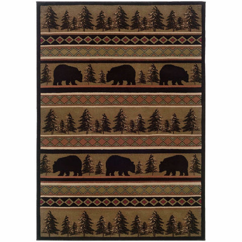 Oriental Weavers Hudson Black Beige Southwest/Lodge Novelty Transitional Rug