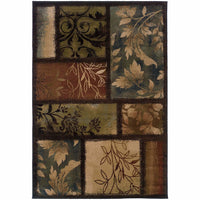 Oriental Weavers Hudson Brown  Geometric Botanical Transitional Rug