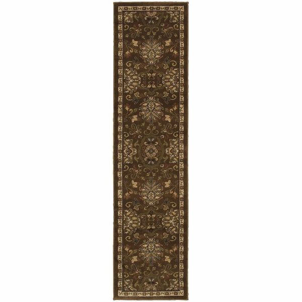Woven - Hudson Green Beige Oriental Persian Transitional Rug