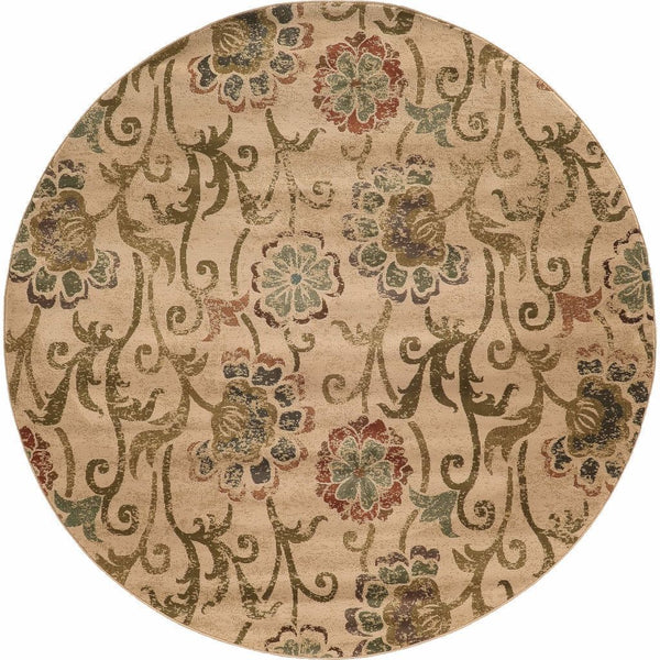 Woven - Hudson Ivory Green Floral  Transitional Rug