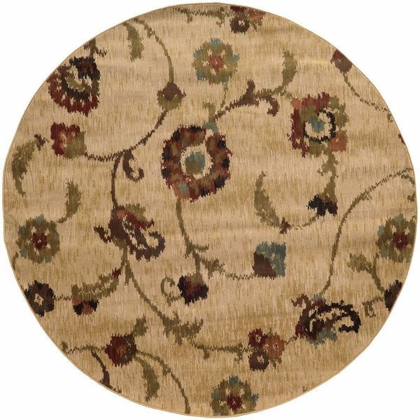 Woven - Hudson Tan Multi Floral  Transitional Rug
