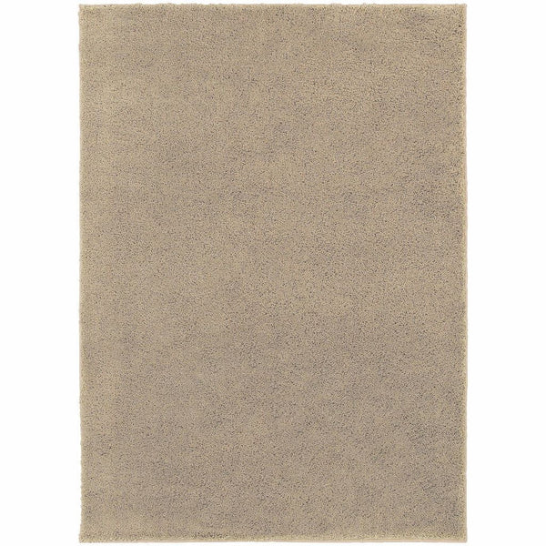 Impressions Beige  Solid  Contemporary Rug - Free Shipping