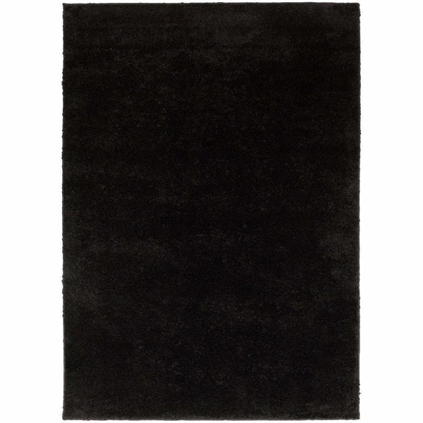 Impressions Black  Solid  Contemporary Rug - Free Shipping