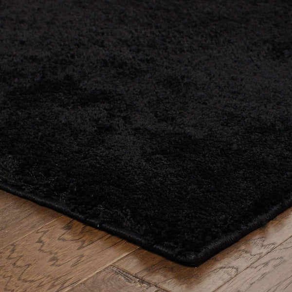 Woven - Impressions Black  Solid  Contemporary Rug