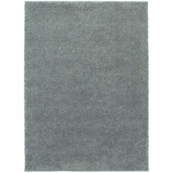 Impressions Blue  Solid  Contemporary Rug - Free Shipping
