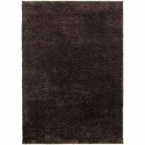 Impressions Brown  Solid  Contemporary Rug