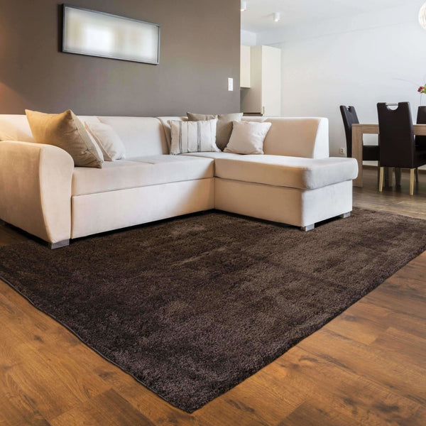 Woven - Impressions Brown  Solid  Contemporary Rug
