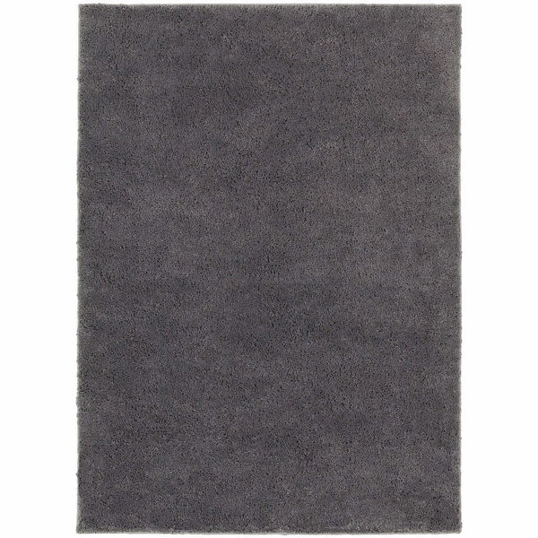 Impressions Grey  Solid  Contemporary Rug - Free Shipping
