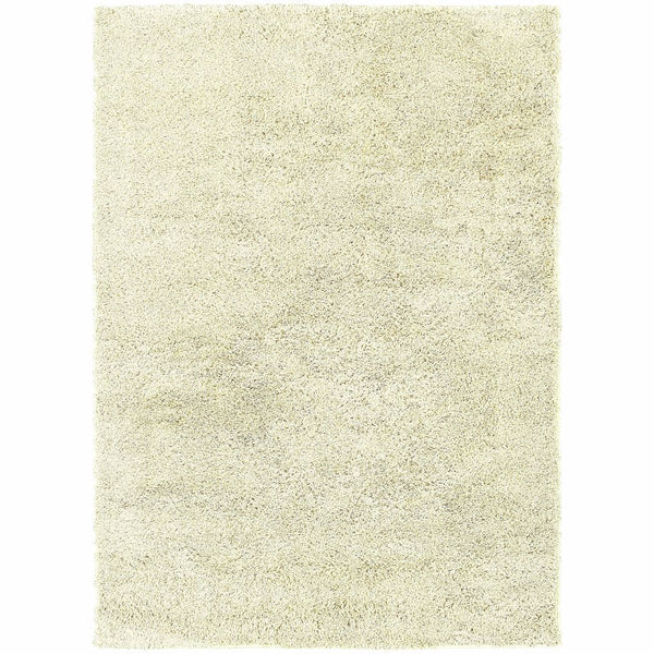 Impressions Ivory  Solid  Contemporary Rug - Free Shipping