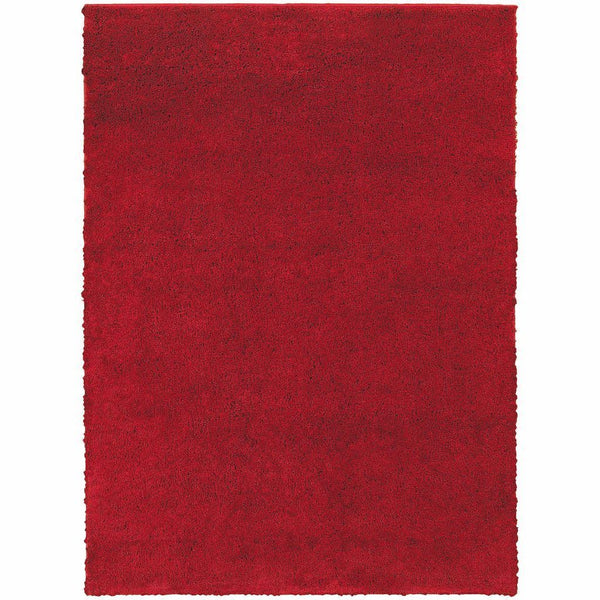 Impressions Red  Solid  Contemporary Rug - Free Shipping