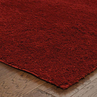 Woven - Impressions Red  Solid  Contemporary Rug