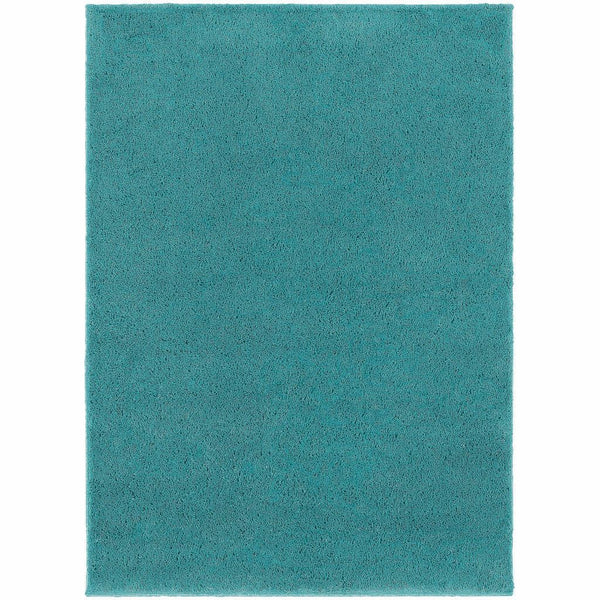 Impressions Teal  Solid  Contemporary Rug - Free Shipping