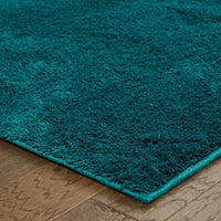 Woven - Impressions Teal  Solid  Contemporary Rug