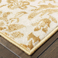Woven - Jayden Gold Ivory Floral Medallion Transitional Rug
