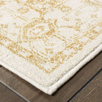 Woven - Jayden Ivory Gold Oriental Medallion Traditional Rug