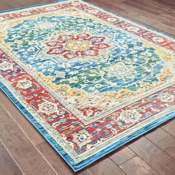 Woven - Joli Red Multi Oriental Medallion Traditional Rug