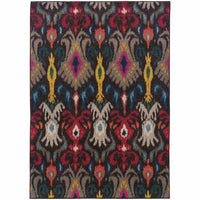 Kaleidoscope Grey Multi Abstract Floral Transitional Rug - Free Shipping