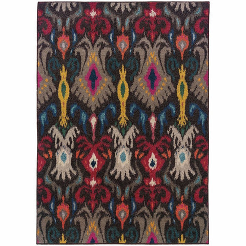 Oriental Weavers Kaleidoscope Grey Multi Abstract Floral Transitional Rug