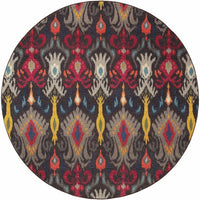 Woven - Kaleidoscope Grey Multi Abstract Floral Transitional Rug