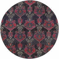 Woven - Kaleidoscope Grey Pink Abstract Floral Transitional Rug