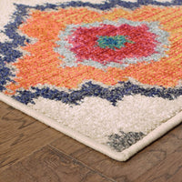 Woven - Kaleidoscope Ivory Multi Tribal  Transitional Rug