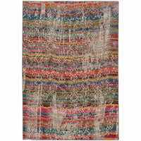 Kaleidoscope Multi Grey Abstract Distressed Transitional Rug - Free Shipping