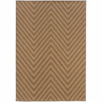 Karavia Tan Light Tan Geometric Chevron Outdoor Rug - Free Shipping