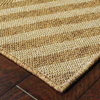 Woven - Karavia Tan Light Tan Geometric Chevron Outdoor Rug