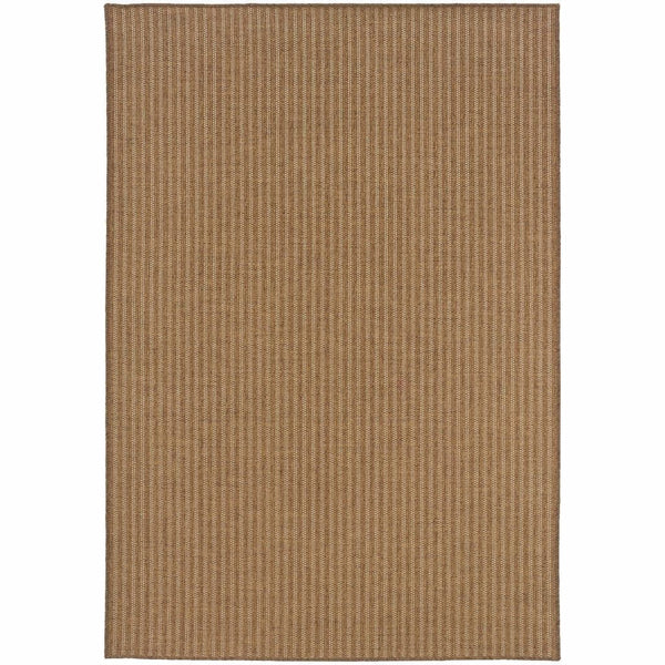 Karavia Tan Light Tan Stripe  Outdoor Rug - Free Shipping