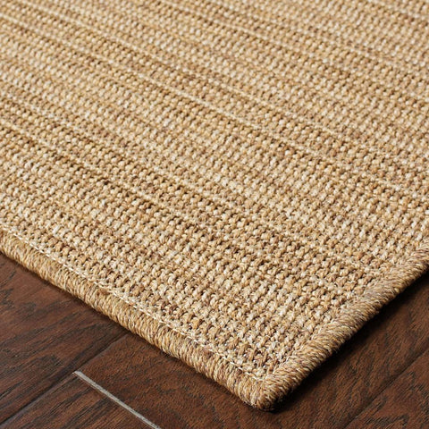 Oriental Weavers Karavia Tan Light Tan Stripe  Outdoor Rug