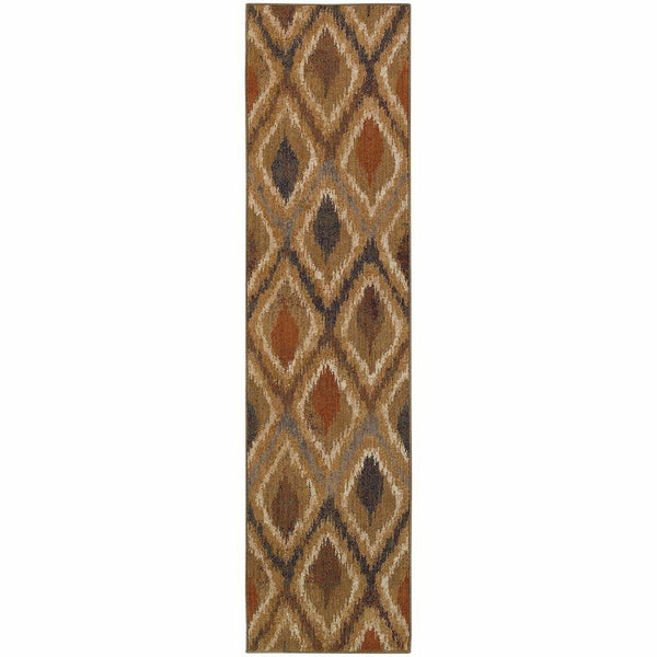 Woven - Kasbah Gold Beige Geometric Lattice Transitional Rug