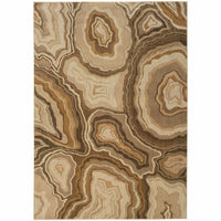 Kasbah Gold Grey Abstract Nature Contemporary Rug - Free Shipping