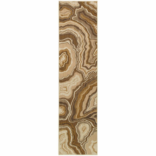 Woven - Kasbah Gold Grey Abstract Nature Contemporary Rug