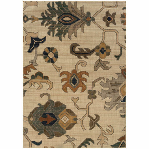 Oriental Weavers Kasbah Ivory Grey Tribal  Transitional Rug