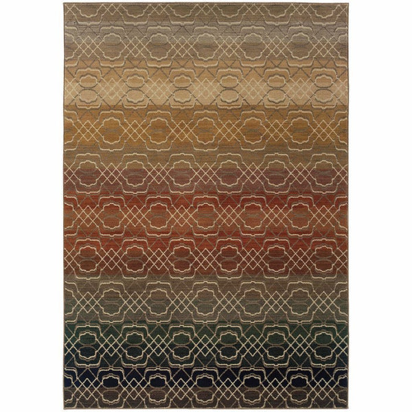 Kasbah Multi Multi Geometric Ombre Transitional Rug - Free Shipping