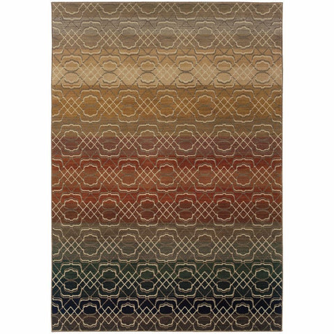 Oriental Weavers Kasbah Multi Multi Geometric Ombre Transitional Rug