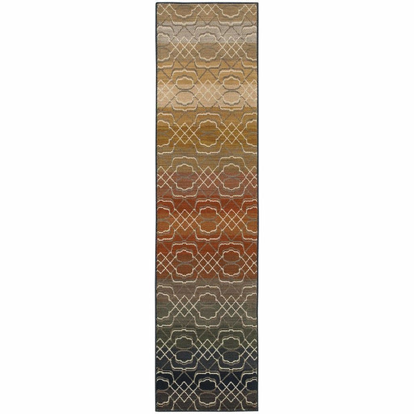Woven - Kasbah Multi Multi Geometric Ombre Transitional Rug
