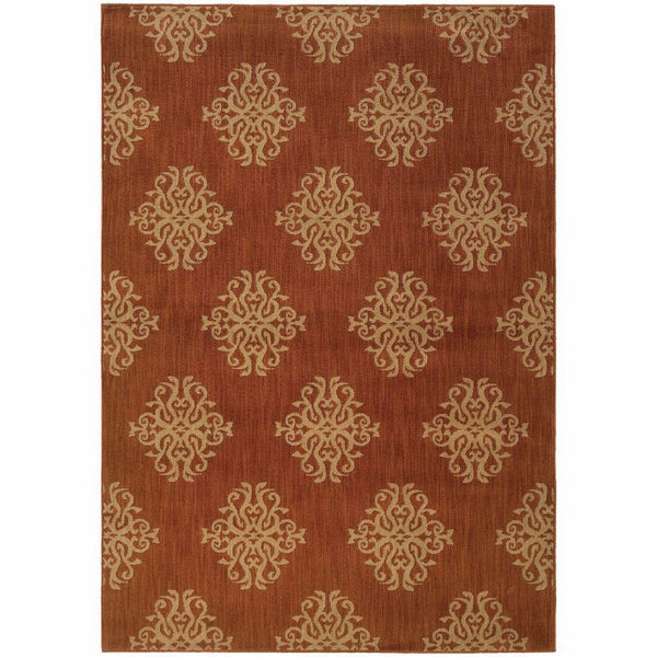 Kasbah Orange Beige Oriental Persian Transitional Rug - Free Shipping
