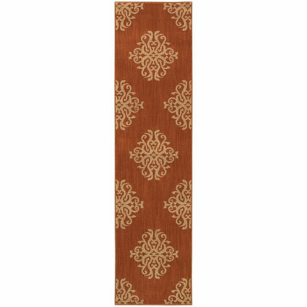 Woven - Kasbah Orange Beige Oriental Persian Transitional Rug