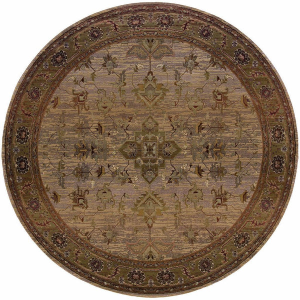 Woven - Kharma Beige Green Oriental Persian Traditional Rug