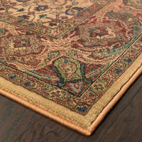 Woven - Kharma Beige Red Oriental Persian Traditional Rug
