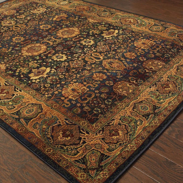 Woven - Kharma Blue Beige Oriental Persian Traditional Rug