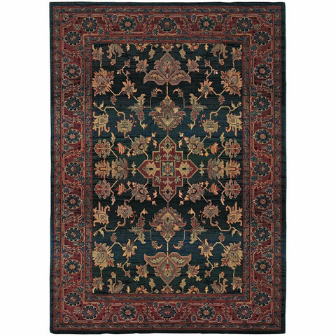 Oriental Weavers Kharma Blue Red Oriental Persian Traditional Rug
