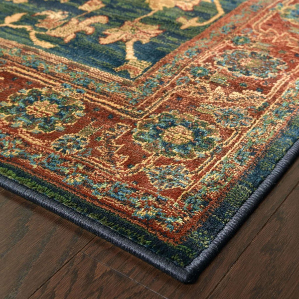 Woven - Kharma Blue Red Oriental Persian Traditional Rug